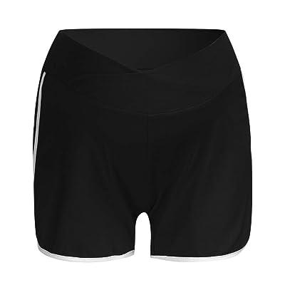 RISTHY Pantalones Cortos Premamá Pantalones de Deporte Leggings Pantalón de Yoga Pijamas Push Up Elástico Talle Bajo para Barriga Mujer Embarazada Maternidad: Ropa y accesorios
