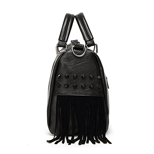 Fashion Women Handbag Pu Bag Simple Shoulder Dhfud Personality Black HYCqwvpnx