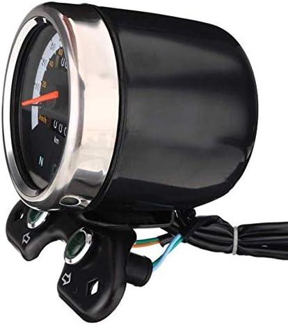 SCH-SC メーター LCDデジタルゲージW/ライトUSB充電器インターフェイスのためのカフェレーサーオートバイオドメータースピードメーターオートバイの付属品オートバイの付属品 車 バイク