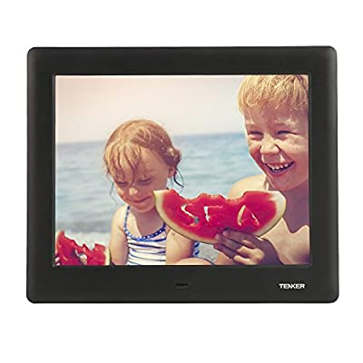 TENKER IPS LCD Screen HD Digital Photo Frame with Calendar and Remote Control (Black)