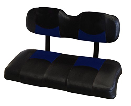 Kool Cushions CCPREC-BKBLCPBT-01 -Custom Vinyl Golf Cart Seat Covers Front Only-Black WithBlue Chip Top - For Club Car Precedent Golf Cart -  CCPREC--BKBLCPBT-01