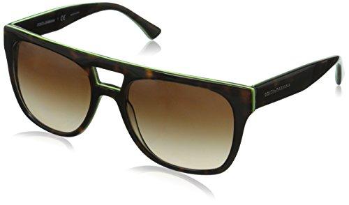 D&G Dolce & Gabbana Mens 0DG4255 Square Sunglasses, Havana,Yellow Fluo,Camo, 56 - Men D&g