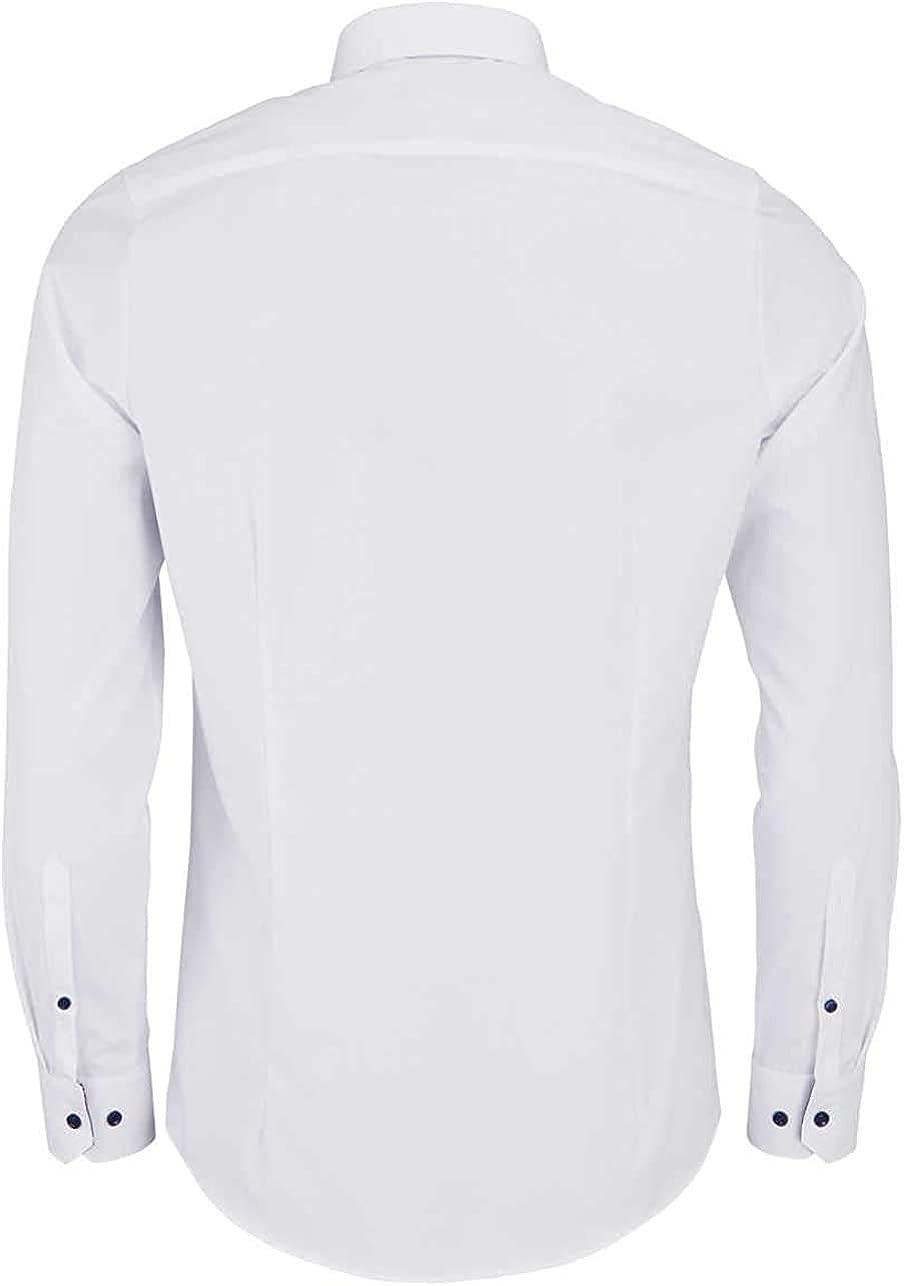 Camisa Marvelis con cuello de color blanco New Kent de manga larga