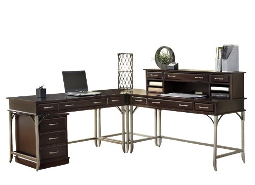 Home Styles Bordeaux Corner L Desk and Mobile File For Sale