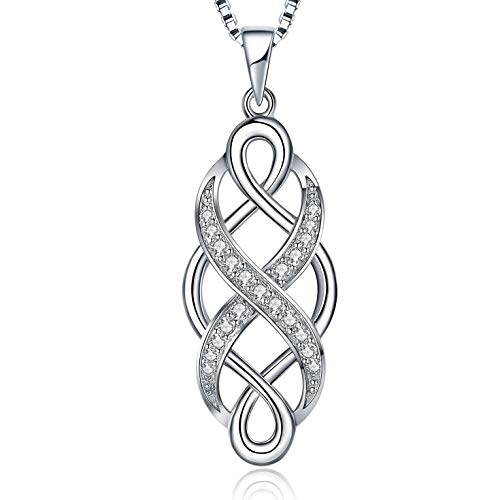 - MUATOGIML 925 Sterling Silver Infinity Love Irish Celtic Knot Pendant Necklace Jewelry Gifts for Men Women Girls, Mom Birthday Gifts