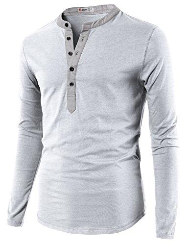H2H Casual Henley Sleeve T shirt
