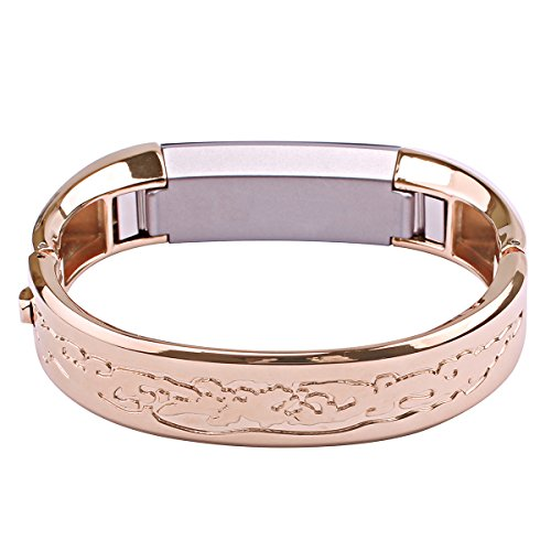 Bonstrap for Fitbit Alta HR Band Rose Gold Stainless Steel Watch Band for Fitbit Bangle Bracelet for Fitbit Jewelry Replacement for Fitbit Alta Wristband Strap from BONSTRAP