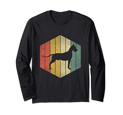 Dane Dog lover Vintage Retro Distressed Gift for dog mom dad Long Sleeve T-Shirt