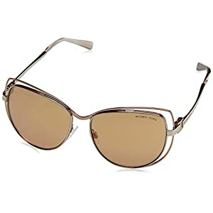 New Michael Kors Sunglasses Womens Cat Eye MK 1013 Copper 1121R1 AUDRINA 1 58mm