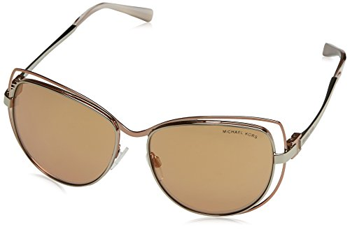 Michael Kors MK1013 1121R1 Silver/Rose Gold Audrina I Cats Eyes Sunglasses - Silver Kors And Gold Michael
