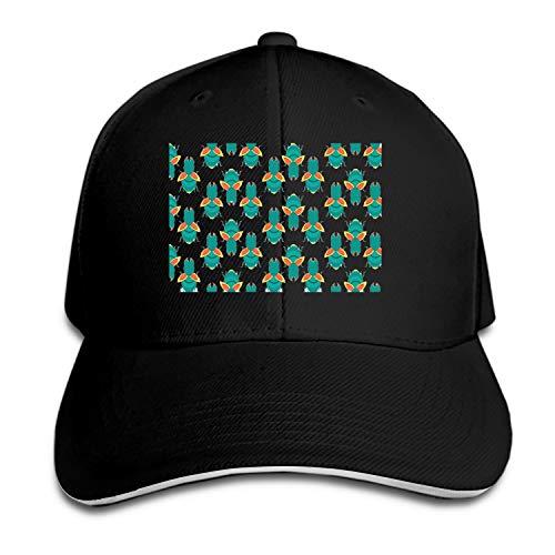 Otkftk Baseball Cap Termite Pttern Dad Hat Peaked Flat Trucker Hats Adjustable for Men - Bermuda Seersucker