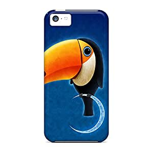 iphone 5c Shockproof phone cover shell Pretty phone Cases Covers Shock-dirt toucan bird