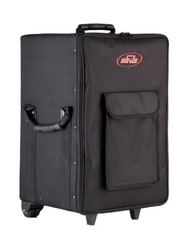 SKB Small Rolling Powered Mixer case with wheels and Handle by SKB
