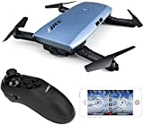 JJRC H47 ELFIE Plus 720P WIFI FPV Foldable Selfie Drone With Gravity Sensor Control Altitude Hold Mode RTF - Blue