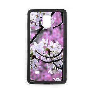 Japanese Flower Sakura Samsung Galaxy Note 4 Cell Phone Case Black Phone cover M8827568