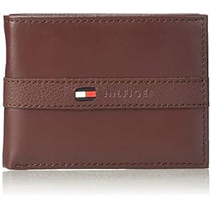Tommy Hilfiger Men's Ranger Leather Passcase Wallet, Burgundy