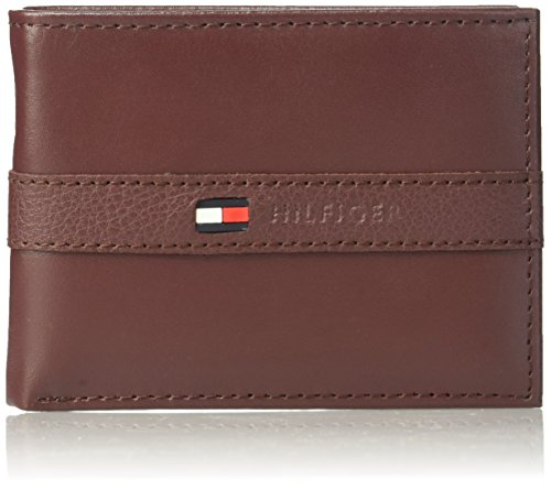 Tommy Hilfiger Men's Ranger Leather Passcase Wallet, Burgundy by Tommy Hilfiger (Image #1)