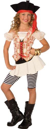 (Buyseasons Girls Swashbuckler Child Costume White 4-6)