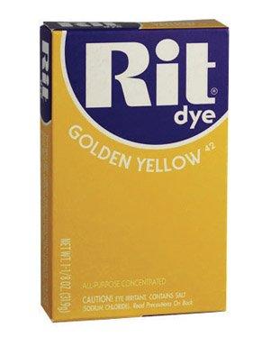 Dye Tie Gold (Rit Dye Powder-golden Yellow)