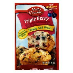 Betty Crocker Blueberry Muffin Mix 6.4 Oz Packet (Pack of 6) (Blueberry)