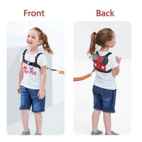 Accmor Baby Anti Lost Safety Harness + Anti Lost Wrist Link, Cute Kid Safety Harness Leash Child Kid Assistant Strap for 1-8 Years Boys and Girls to Zoo or Mall by accmor (Image #6)