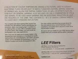 Lee Filters Lighting Pack Daylight to Tungsten