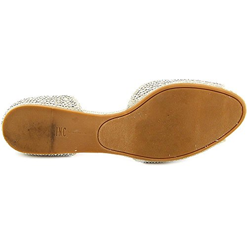 Champagne International Slide Fabric Womens Flats Elsah2 Concepts Open Toe INC WSqTwCUxC