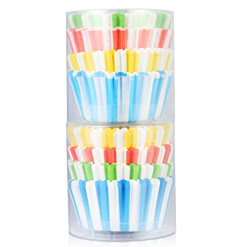 Baking Paper Cups Muffin Liners Cupcake Paper Liners Disposable Baking Cup Colorful Cup Standard Size for Baking, Pack of 200