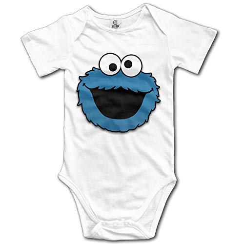 ZZHZMH Baby Outfits Cute The Muppet Cookie Monster Face Cotton Infant Clothes White -