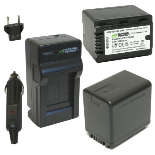 Wasabi Power Battery (2-Pack) and Charger for Panasonic V...