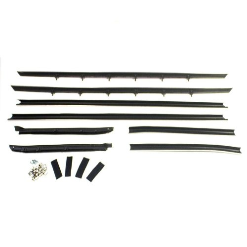 Metro Moulded Parts WC 2008-16 8-Piece Window Sweeper Kit for Coupe with Standard ()