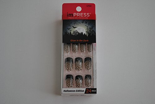 Impress Press-on Manicure Glow in the Dark Halloween Edition Nails - (Halloween Nails)
