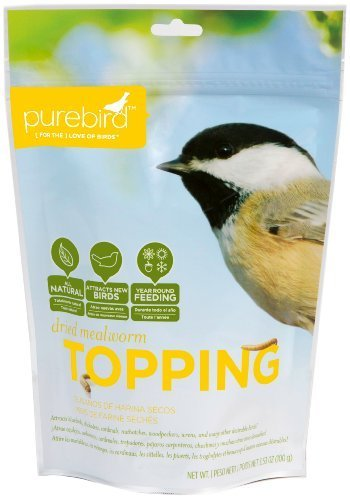 PureBird Dried Mealworm Topping for Wild Birds, 3.53-Ounce by PureBird