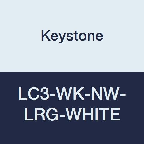 Keystone LC3-WK-NW-LRG-WHITE Polypropylene Lab Coat, 3 Pocket, Knit Wrists, Snap Front, Single Collar, Large, White (Pack of 30)