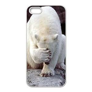 Customized case Of Polar Bear Hard Case for iPhone 5,5S