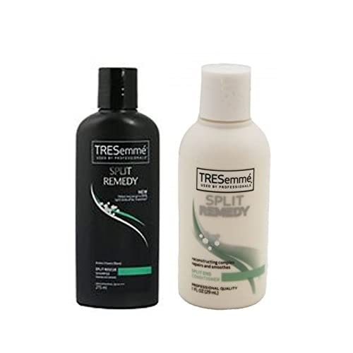 TRESemme split remedy Shampoo & Conditioner Travel Size 1. Fl. Oz Each size (4 Pack) Total of 8 BOTTLES