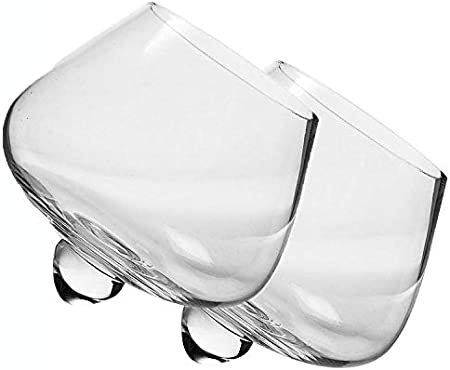 Tianhh Vaso De Whisky De Vidrio Transparente, Barra De Vidrio Creativo Sin Plomo Batido De Vidrio Tinto Copa De Vino-435 Ml
