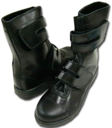 [シモン] 安全靴 半長靴 ショートブーツ マジックテープ ゆったり3Eサイズ