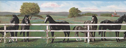 Wallpaper Border - Horses Prepasted Wall Border 8243 RU ()