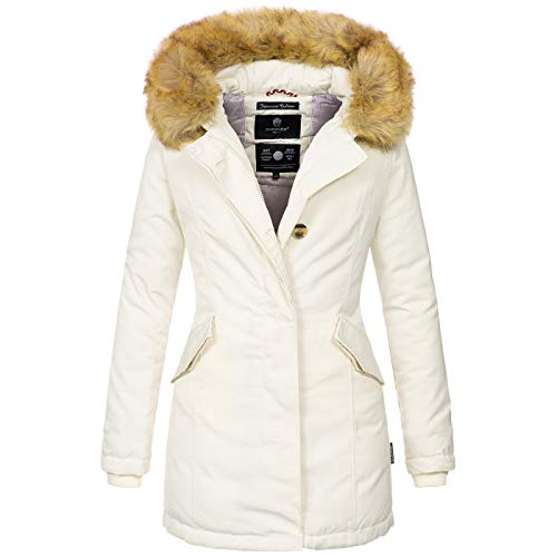 B362 Invernale Bianco Donna Foderato Da Caldo E Giaccone Marikoo Parka fwXTdWBfq