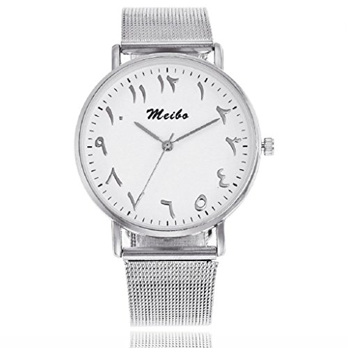 Unisex Quartz Watch Hosamtel Women Men Casual Stainless Steel Strap Starlight Analog Wrist Watch - Online Watch Uk Retailers