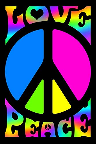 - Peace & Love Retro Blacklight Responsive Flocked Poster - 23