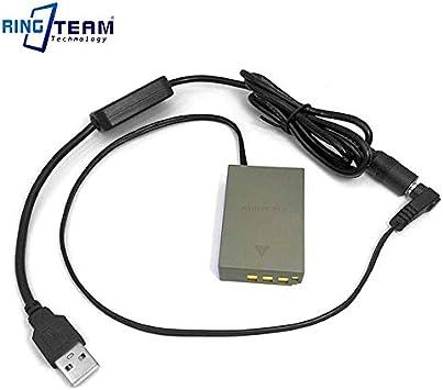 Paquete de batería PS-BLS1 fuente de alimentación USB DC Acoplador /& cable de alimentación para Olympus
