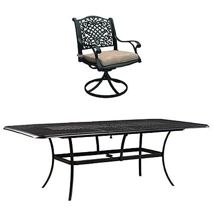Ashley Furniture Signature Design   9 Piece Outdoor Dining Set   8 Swivel  Chairs U0026