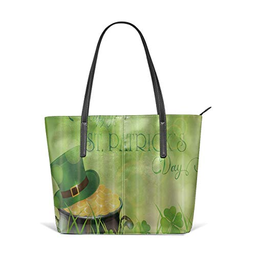 Green Hat and Cauldron Satchel Purses and Handbags for Women Shoulder Tote Bags ()