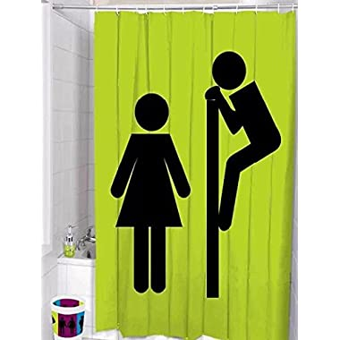 Snooping Polyester Fabric Shower Curtains 72-inch by 74-inch