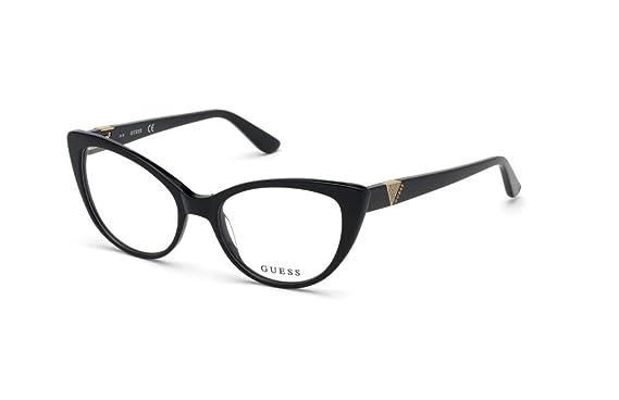 d1e39e6f064b6 Guess - Monture de lunettes - Femme Noir Noir Medium  Amazon.fr ...