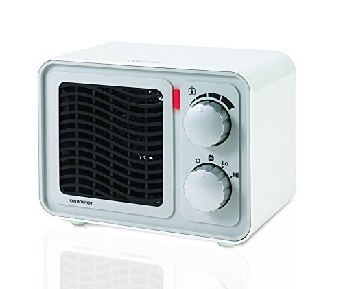 Sunbeam SFH5264MW-UM Retro Radio Heater Fan, Small, White (Small Fan Colorful compare prices)