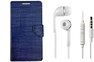 ZEDAK FLIP COVER BLUE WITH HEADPHONE WHITE FOR COOLPAD NOTE 5