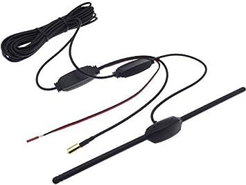 Amplificador activo de antena DAB + Radio SMB, 16 dB antena digital adhesiva, ideal para coche o caravana